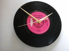 "F.R. David- words    7""  vinyl record clock  £6.99"