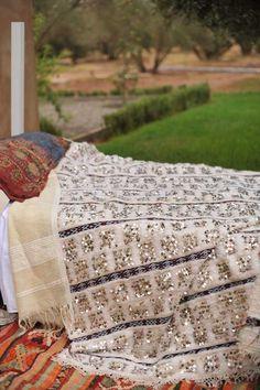 wedding blanket from Morrocco  http://moroccanmaryam.typepad.com/my_marrakesh/2009/09/moroccan-interior-design-moroccan-wedding-blankets.html