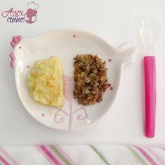 Bebek+Usulü+Köfte+Patates Kids Menu, Mahi Mahi, Baby Food Recipes, Mashed Potatoes, Oatmeal, Food And Drink, Anne, Breakfast, Ethnic Recipes