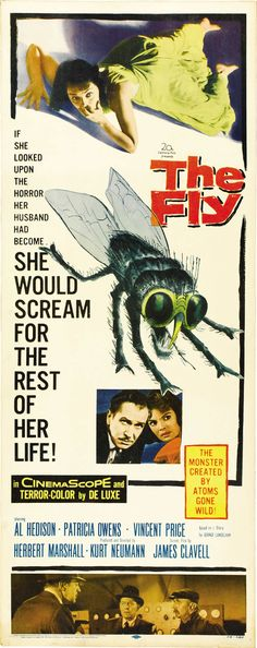 The Fly - 1958...excellent movie in it's day.  Re-make was---well hard to describe really