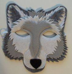 Grey Wolf Mask Felt Animal Mask by thekidzclothesline on Etsy, – Schlafmaske Felt Diy, Felt Crafts, Paw Patrol Disfraz, Wolf Mask, Halloween Karneval, Wolf Costume, Kids Dress Up, Animal Masks, Bricolage