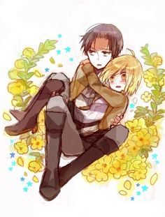 Rivaille (Levi) x Petra Ral (Honestly, I thought this was Armin)