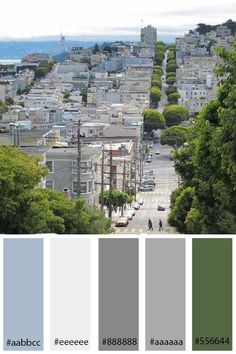 gray color palette | Blue/Gray/Green Color Palette