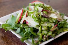 Asparagus and Radish Salad: I made this for Easter last year & will do it again this year. The leftovers are even better. You need a mandolin, but you can get a cheap one at Target for under 10 bucks.
