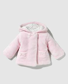 ღ¸.•❤ ƁҽႦҽ ღ .¸¸.•*¨*• Abrigo de bebé niña Dulces en rosa con capucha