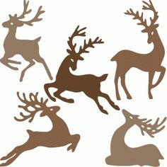 Silhouette Design Store: reindeer family