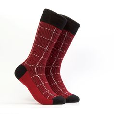 Optimus - Mens Dress socks - Color Red