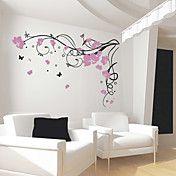 Borboleta Flor Vine adesivos de parede – BRL R$ 146,50