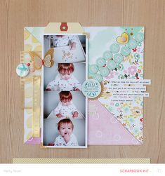 #papercraft #scrapbook #layout  Good Morning - Studio Calico Office Hours Kit - Kelly Noel