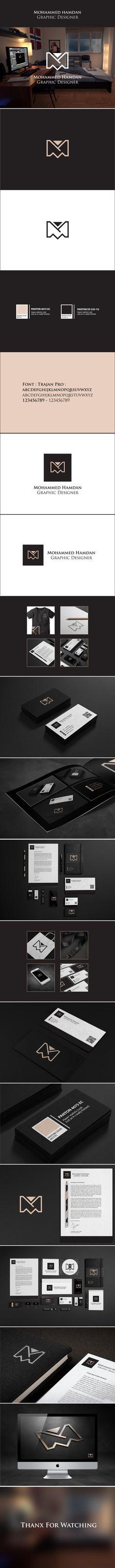 Personal Identity & Personal logo by mohammed hamdan, via Behance   #stationary #corporate #design #corporatedesign #identity #branding #marketing < repinned by www.BlickeDeeler.de   Take a look at www.LogoGestaltung-Hamburg.de