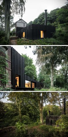 13 Totally Secluded Homes To Escape From The World // Tucked into a forest in Normandy, France, is this modest house of comfort and privacy. The house is surrounded by all sorts of vegetation that create the feeling of really being away from the rest of the world.