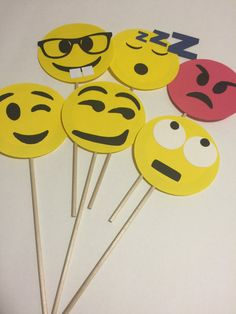 Pack 6 de Emoji Photo Booth Propsparte 2 por CindyGCastillo en Etsy