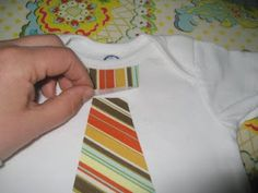 I'm sure this can be used for anything to be added to a baby t-shirt or onesie! But cute little tie tutorial!