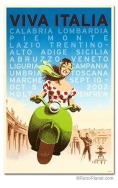 Italian travel poster.                                                                                                                                                                                 Más