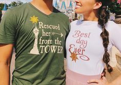 Rapunzel and Flynn Rider Couple Tees.