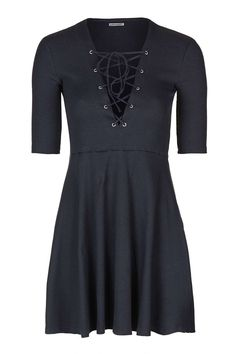 **Tie-Up Front Skater Dress by Glamorous Petites - Topshop