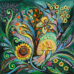 The tree of desires (Painting),  70x70x5 cm by Elena Kotliarker ABOUT THIS PAINTING While the law of karma cannot be discounted, you are doubtlessly a product of your own desires. Your desires prompt you to take action or tread a certain path. Before you can know the nature of your desires, you ought to understand the nature of your mind. When a desire is fulfilled, it gives you temporary joy & pleasure. The outcome is as ethereal and elusive as the desire itself. If desires could be…