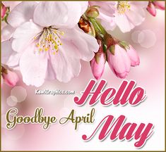 Goodbye April Hello May Graphic plus many other high quality Graphics for your Facebook profile at KewlGraphics.com.