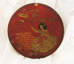Vintage Tin Sewing Box for Little Tots  1923  by SilverCrow