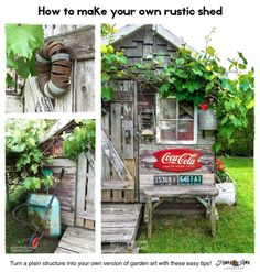 How to create your own charming rustic garden shed with old fence wood!