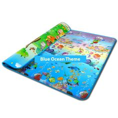 Ocean Blue Foam Play Mat for Babies