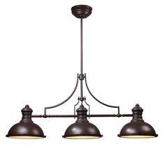 Three Light Bronze Pool Table Light   Williams Lighting Galleries