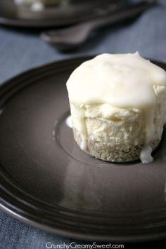 frozen mini cakes 4 Coconut Cream Mini Frozen Desserts with White Chocolate Magic Shell