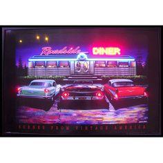 Neonetics Roadside Diner Neon LED Framed Vintage Advertisement