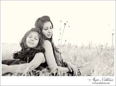 mother daughter love... good pose for family pictures for me and Addy