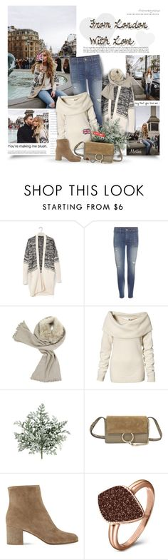 """From London With Love"" by thewondersoffashion ❤ liked on Polyvore featuring Justin Bieber, Banana Republic, True Religion, H&M, Chloé, Gianvito Rossi, H.AZEEM, Loree Rodkin, women's clothing and women"