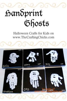 Ghostly Handprints:: Halloween Kid Craft