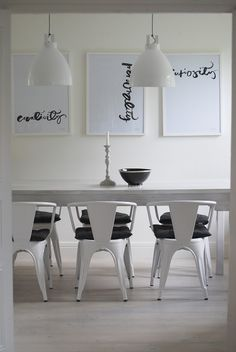 Minimalist black and white calligraphy by the Swedish designer Ylva Skarp