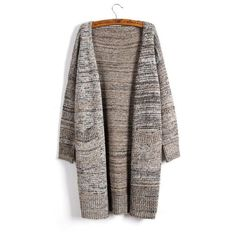 BiSHE Autumn 2017 Women Sweater Long Cardigan Fashion Long Sleeve Plus Size Knitted Loose Cardigan Female Sweaters Outerwear