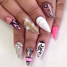 I don't really like stiletto nails but I love the designs