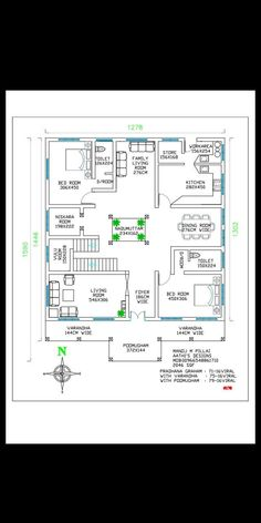 Ideas Home Plans Traditional Kitchens Square House Plans, Free House Plans, House Layout Plans, Duplex House Plans, House Plans One Story, House Floor Plans, Kerala Traditional House, Traditional House Plans, Traditional Kitchens