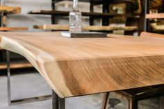 Fancy a solid wood dining table? Herman has a huge range of wood table tops. Come visit our Singapore showroom at Outram Road. Wood Slab Table, Walnut Table, Oak Table, Solid Wood Dining Table, Wooden Tables, Make A Table, Live Edge Table, Bar Tops, Corner Table