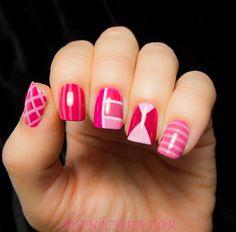 The New Black Ombre-Floyd Nail Art#nail_art #nails #nail #nail_polish #manicure