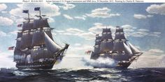 USS Constitution engages HMS Java, 19 August 1812: