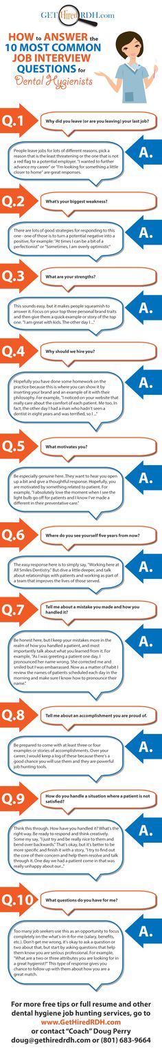 How to Answer the 10 Most Common Interview Questions for Dental Hygienist. Dental Hygiene School, Dental Life, Most Common Interview Questions, Job Interview Tips, Job Interviews, Interview Answers, Interview Preparation, Social Studies, Human Resources