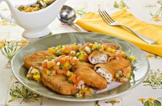 Receita de peixe empanado com molho vinagrete