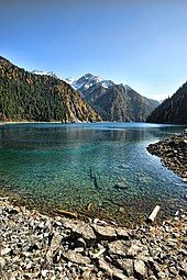 Jiuzhaigou -  Long lake is the highest, largest and deepest lake in Jiuzhaigou