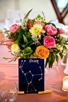 Constellation wedding table names