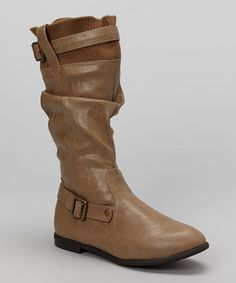 Take a look at this Nude Amber Boot by Chase & Chloe on #zulily today!