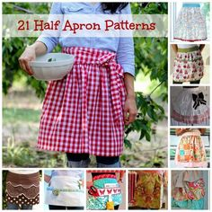 Free Patterns & Tutorials For Waist Aprons | Becky Cooks Lightly #freepatterns #aprons #sewing