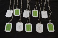 Call of Duty -- Dog tags for birthday guests