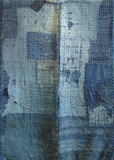 batixa:    A Patched and Stitched Indigo Dyed Sakiori Vest | Sri Threads