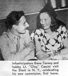The true love of Oleg Cassini and Gene Tierney <3