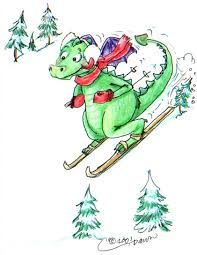 Image result for skiing dragon