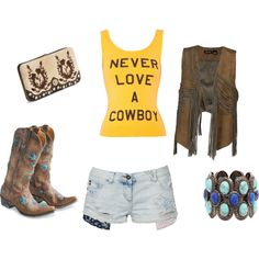 switch the vest for a blue jean vest or jacket and this would be a really cute summer rodeo outfit