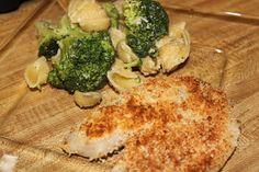 We're Parents!?: Crusted Tilapia w/Parmesan Pasta & Broccoli